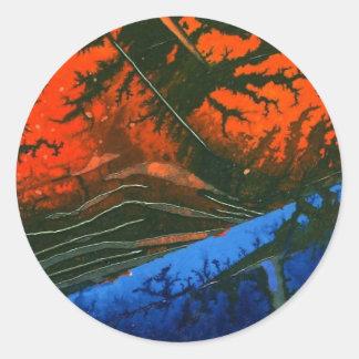 """Swamp Fire"" Abstract Design Sticker"