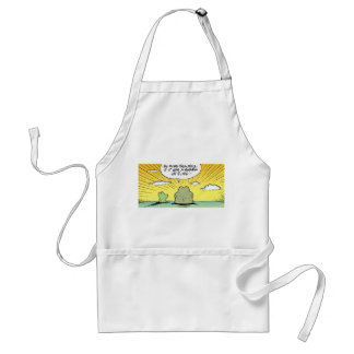 Swamp Frogs Cartoon Adult Apron