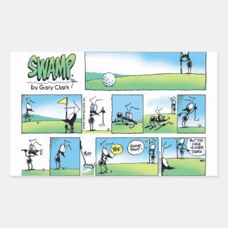 Swamp Golf Ant Putt Rectangular Sticker