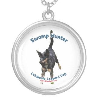 Swamp Hunter Dog Round Pendant Necklace