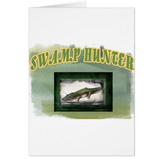 Swamp Hunter Layered Camo Gator Card