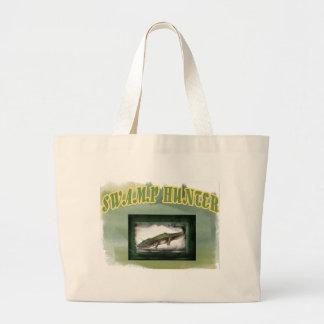 Swamp Hunter Layered Camo Gator Large Tote Bag