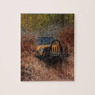 Swamp Jeeping Jigsaw Puzzle
