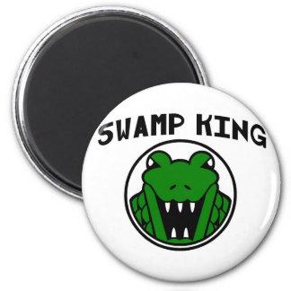 Swamp King Gator Symbol 2 Inch Round Magnet