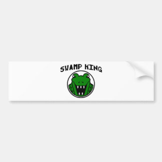 Swamp King Gator Symbol Bumper Sticker