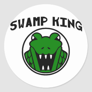 Swamp King Gator Symbol Classic Round Sticker