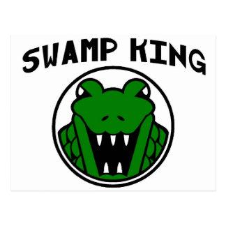 Swamp King Gator Symbol Postcard