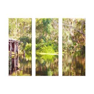 Swamp Life 3 panel gallery wrap canvas