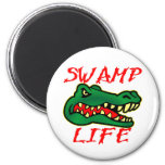 Swamp Life Alligator 2 Inch Round Magnet