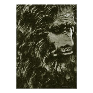Swamp Monster, Bigfoot, Sasquatch Art Poster