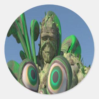 Swamp Monster Eyes Classic Round Sticker