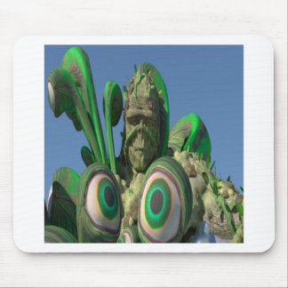 Swamp Monster Eyes Mouse Pad