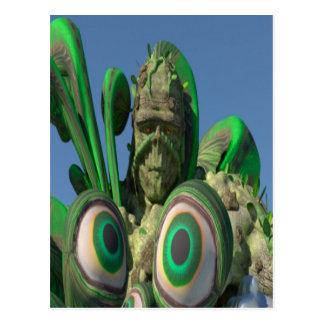 Swamp Monster Eyes Postcard