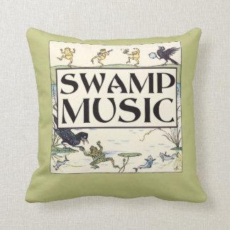Swamp Music Throw Pillow
