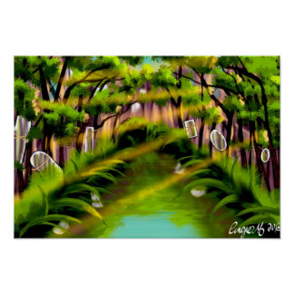 Swamp of mirrors print by Angie Muller
