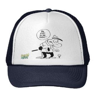 Swamp Old Man Croc Golf Day Trucker Hat