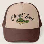 "Swamp People - Choot&#39; Em! Hat! Trucker Hat<br><div class=""desc"">Enjoy Swamp People?  as seen worn by Troy himself !</div>"