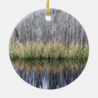 Swamp Reflection Ceramic Ornament