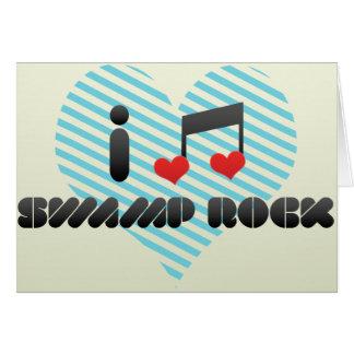 Swamp Rock fan Greeting Cards