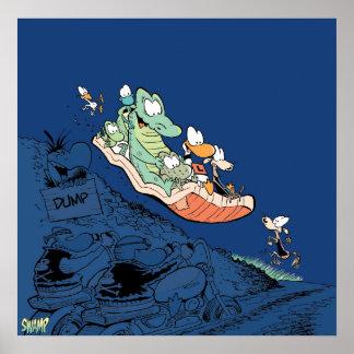 Swamp Rubbish Dump Fun Poster