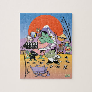 Swamp Samurai Movie Set Jigsaw Puzzle