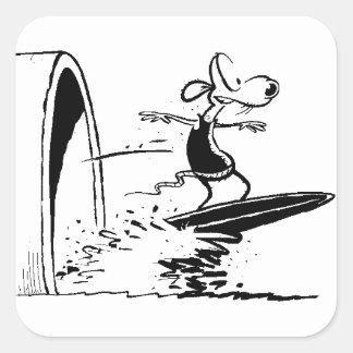 Swamp Sludge Surfing Rat Sticker