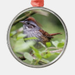 Swamp Sparrow Christmas Ornament