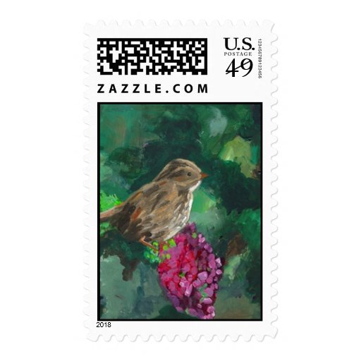 Swamp Sparrow Stamp