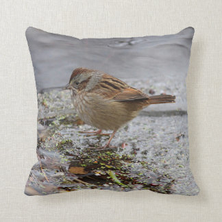 Swamp Sparrow Throw Pillow