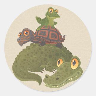 Swamp Squad Classic Round Sticker