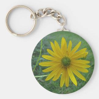 Swamp Sunflower Green Center Keychain