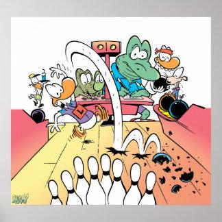 Swamp Ten Pin Bowling Poster