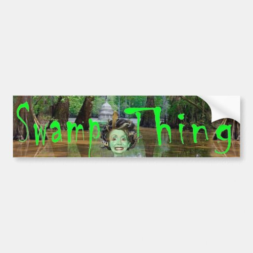 SWAMP THING 4 BUMPER STICKERS