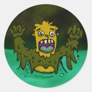 Swamp Thing Classic Round Sticker