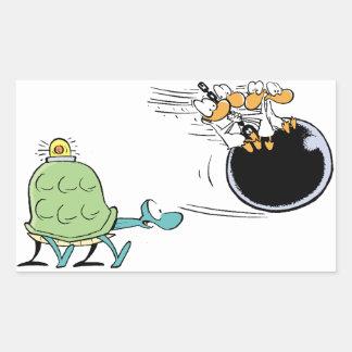 Swamp Turtle Ambulance Cartoon Rectangular Sticker