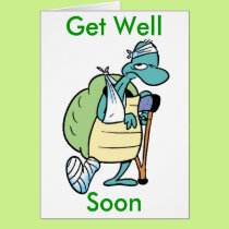 Swamp Turtle Get Well Soon Card