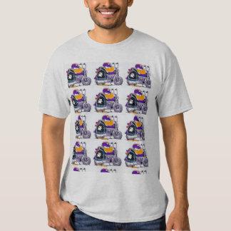 Swamp Wild Ducks Motorbike Cartoon T-shirt
