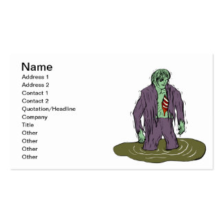 Swamp Zombie Business Card