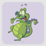 Swampy - Act Fast! Square Stickers
