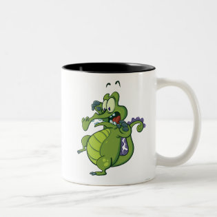 Swampy - Act Fast! Two-Tone Coffee Mug