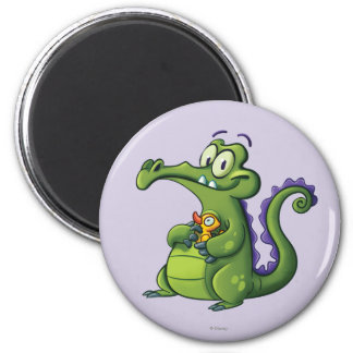 Swampy and Rubber Ducky 2 Inch Round Magnet