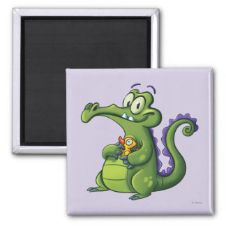 Swampy and Rubber Ducky 2 Inch Square Magnet