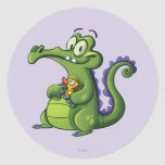 Swampy and Rubber Ducky Classic Round Sticker