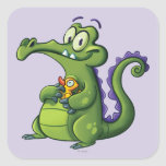 Swampy and Rubber Ducky Square Sticker