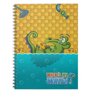 Swampy in the Bathtub Spiral Notebook