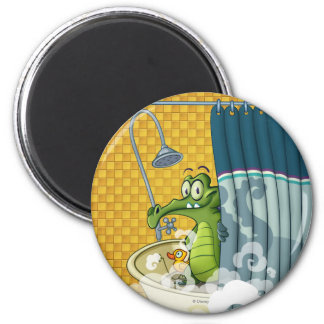 Swampy in the Shower 2 Inch Round Magnet
