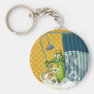 Swampy in the Shower Key Chain