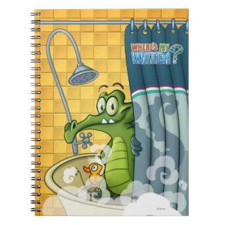 Swampy in the Shower Spiral Notebook