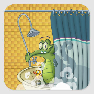Swampy in the Shower Stickers