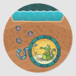 Swampy Pipes Classic Round Sticker
